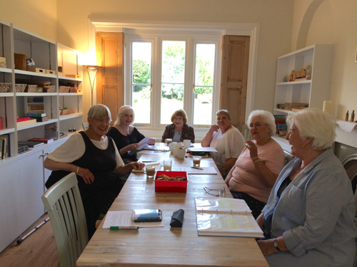 Photo of The Richmond Charities Autobiography Group sharing memories and experiences